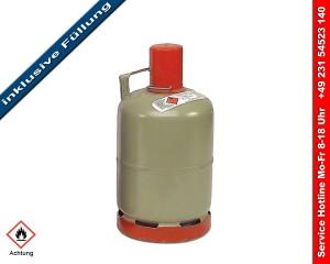 Gasflasche kaufen - Stahl Gasflasche 5kg - gefüllt