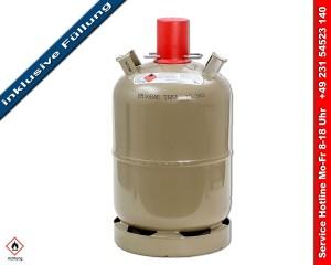 Gasflasche kaufen - Stahl Gasflasche 11kg - gefüllt